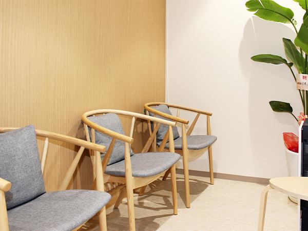 画像:乳がん検診受診者用待合室